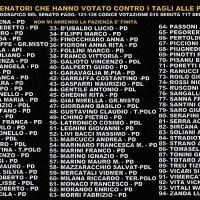 La bufala dei 94 senatori che hanno votato contro il taglio alle pensioni d'oro