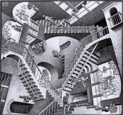 Maurits Cornelis Escher, Relatività, 1953