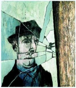 Mino Ceretti, L'uomo allo specchio rotto, 1957