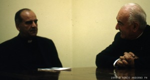 A sinistra il Vescovo di Mostar. A destra, invece, Don Modesto,