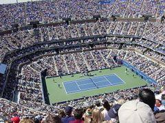 """Il """"centrale"""" di Flushing Meadows, NY, sede degli US Open, è oggi dedicato ad Arthur Ashe"""