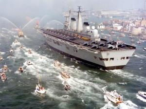 Il ritorno dell'esercito dopo la riconquista delle Falklands