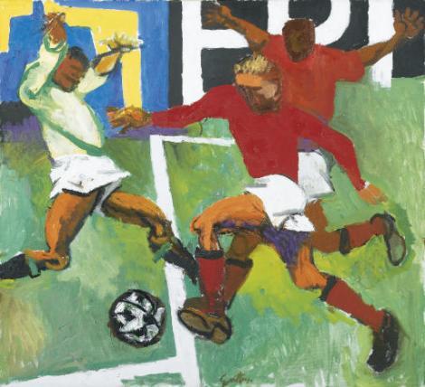 Renato Guttuso, I calciatori, 1966