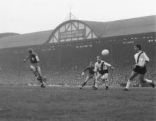 Anfield's old main stand in 1965