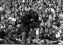 Arsenal manager Bertie Mee consoles Bob Wilson