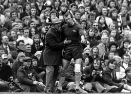 Arsenal manager Bertie Mee consoles Bob Wilson