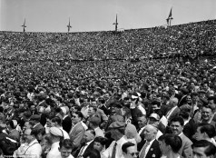 crowd at Wembley for the 1960 FA Cup final between Wolves and Blackburn