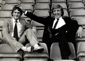 Manchester City manager John Bond welcomes Trevor Francis