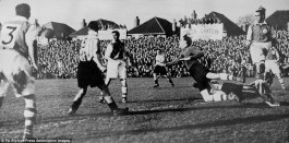 Yeovil take on Sunderland in the fourth round of the FA Cup in 1949