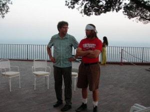 franzen e Wallace a Capri