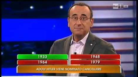 Carlo Conti allibito