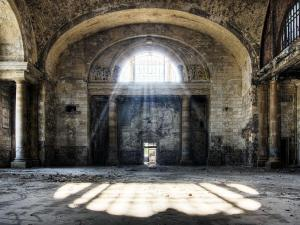 Michigan Central Station a Detroit, interno