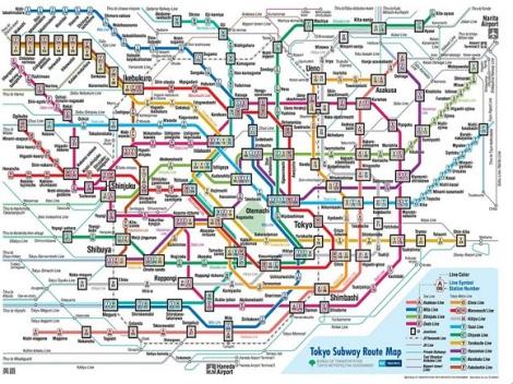 Queste sono SOLO le metropolitane sotterranee: buon divertimento.